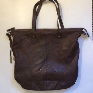 Lucky Brand shoulder bag, purse, dk brown leather